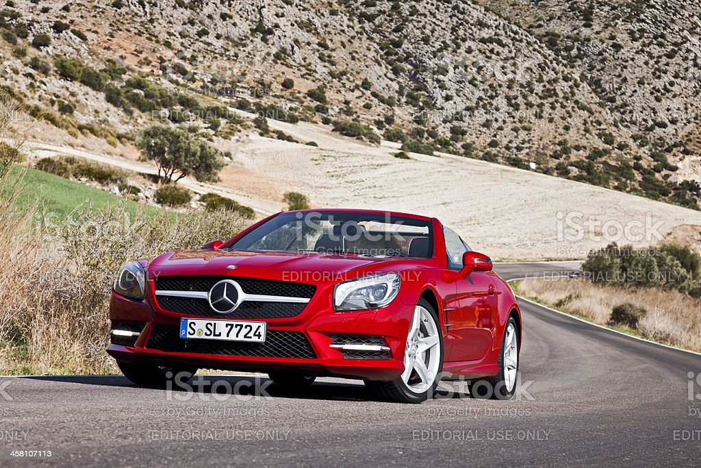 Mercedes SL stock photo