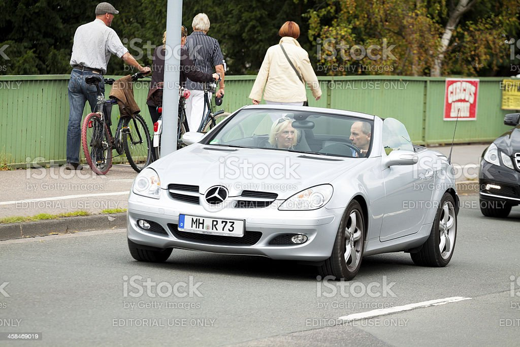 Mercedes SLK royalty-free stock photo