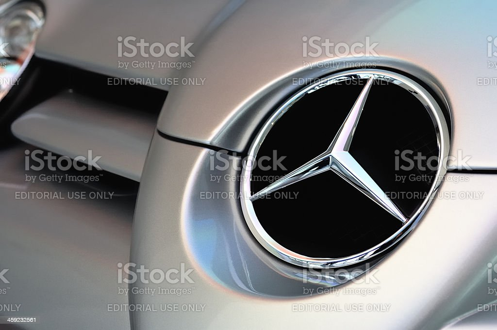 Mercedes Slr Logo On Mclaren Mercedes Slr Sports Car Stock Photo