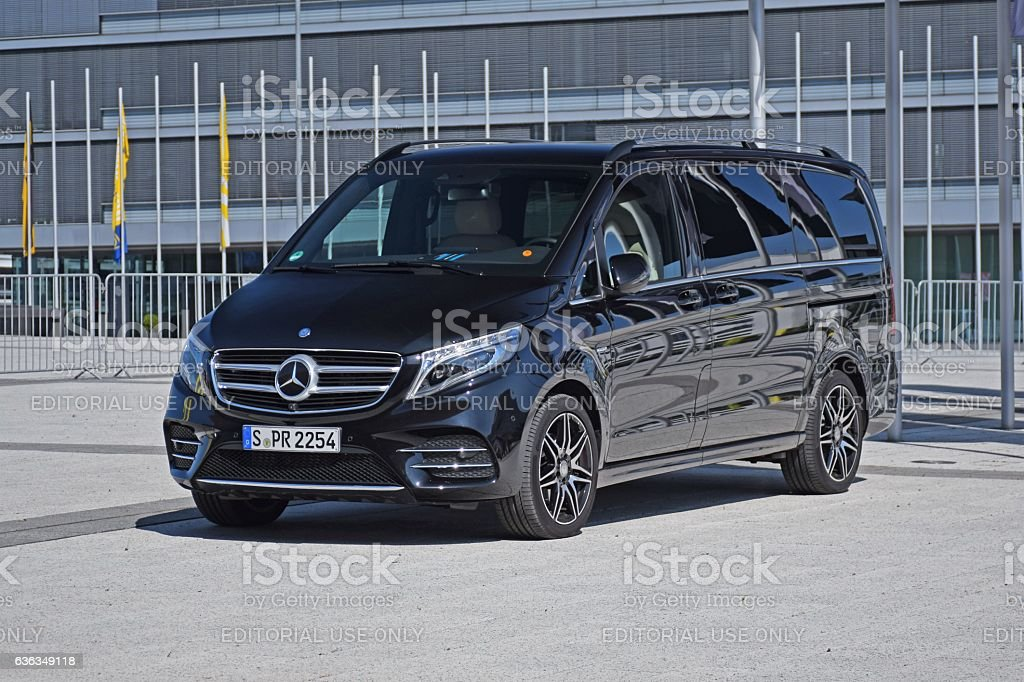 Mercedes V-Class on the parking stock photo