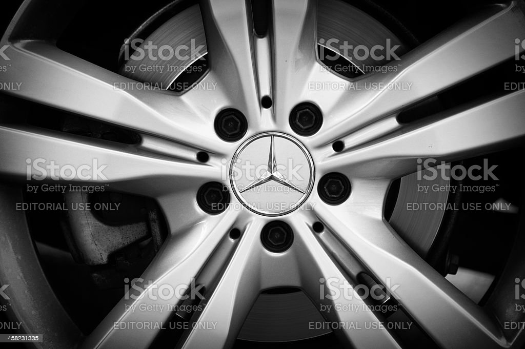 Mercedes wheel stock photo