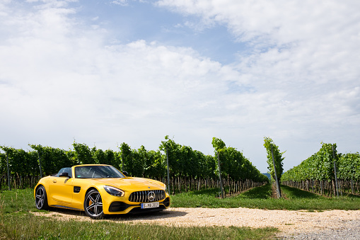 Mercedesamg Gt C Roaster 2017 Test Drive Day Stock Photo - Download Image Now