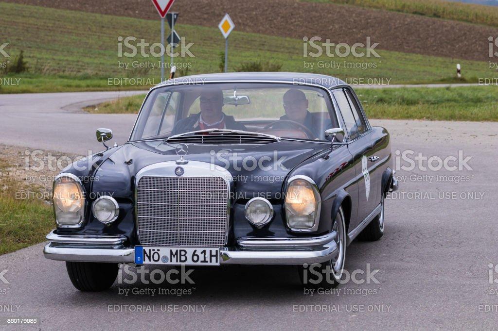 1961 Mercedes-Benz 220 SE oldtimer car at the Fuggerstadt Classic 2017 Oldtimer Rallye stock photo
