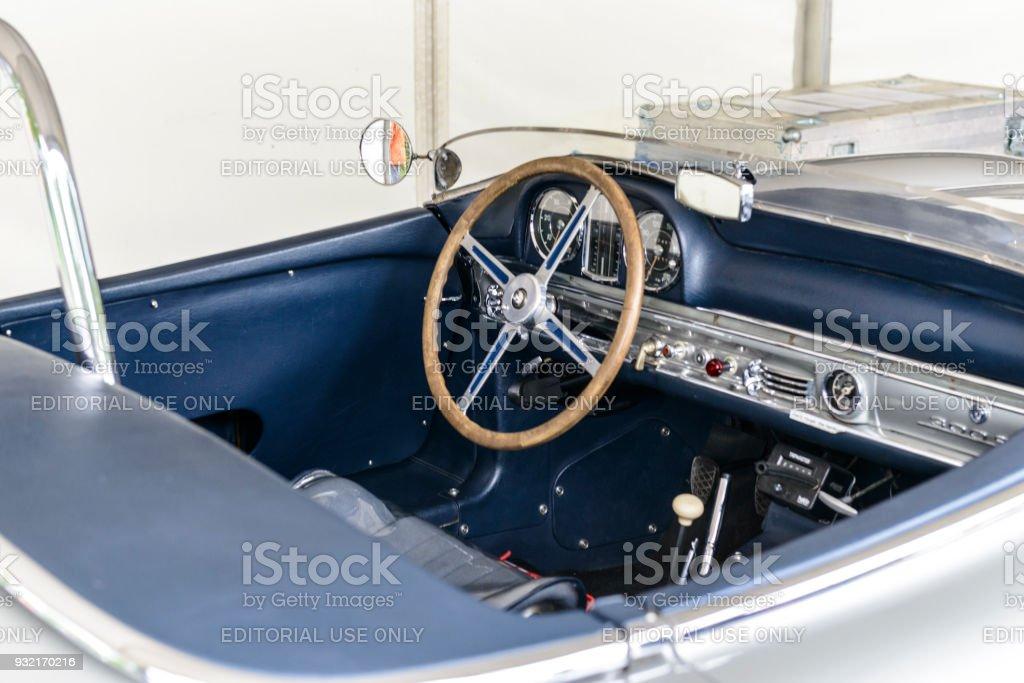 Mercedes Benz 300 SLS Roadster Classic Lightweight Racing Car Interior Royalty Free Stock Photo