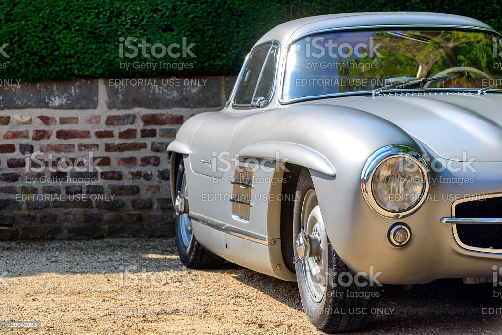 Mercedes-Benz 300SL Gullwing classic sports car side view stock photo