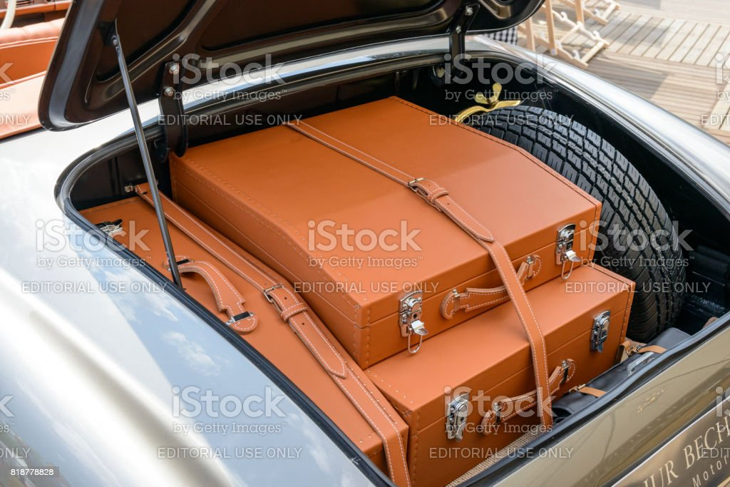 Mercedesbenz 300sl Roadster Convertible Classic Sports Car Trunk