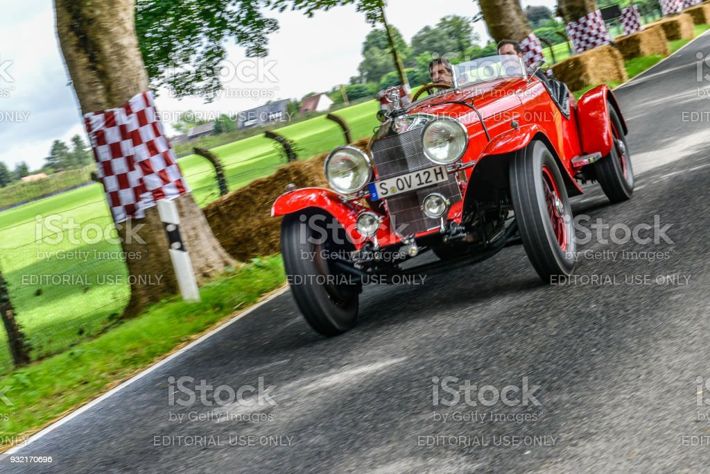 Mercedes-Benz 710 SS sports 1930 classic convertible car stock photo