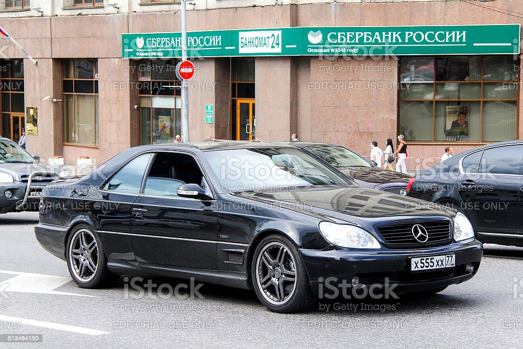 Mercedes-Benz C140 CL-class stock photo