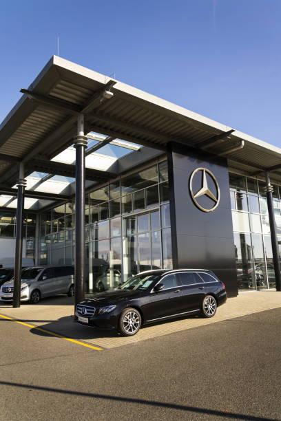 Mercedesbenz car in front of dealership in prague czech republic picture id645531128?b=1&k=6&m=645531128&s=612x612&w=0&h=zaxtk ouyu4up1didhbi3ynx6jjfowyb e xvr8bdnk=