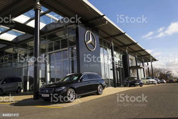 Mercedesbenz car in front of dealership in prague czech republic picture id645531412?b=1&k=6&m=645531412&s=612x612&h=unsunomsghubhpvxsmcl qsroahpg0mkalsickdt5p8=
