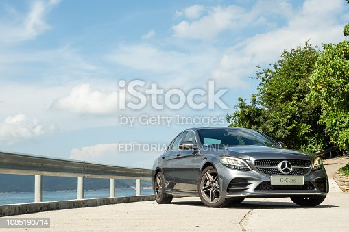 Hong Kong, China July 31, 2018 : Mercedes-Benz C-Class 2018 Test Drive Day July 31 2018 in Hong Kong.