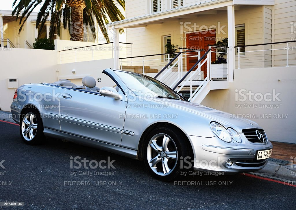 Mercedes-Benz CLK500, car, luxury, Cape Town, South Africa, convertible, stock photo