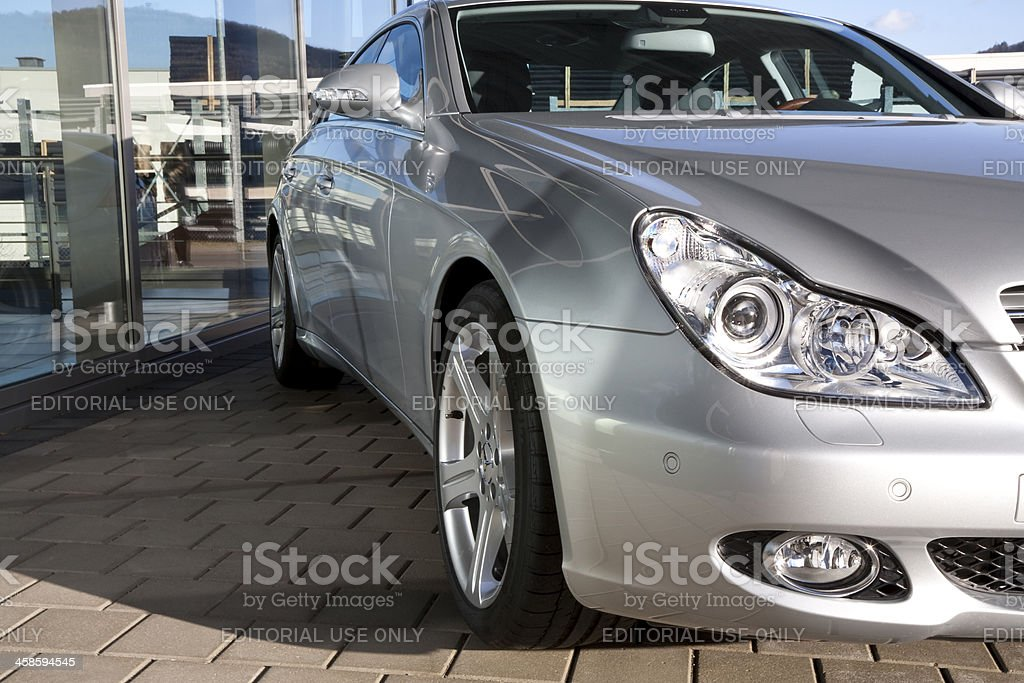 Mercedes-Benz CLS-Class Outside of a Car Dealership royalty-free stock photo