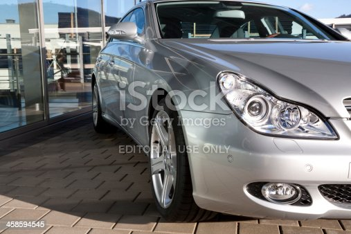 istock Mercedes-Benz CLS-Class Outside of a Car Dealership 458594545