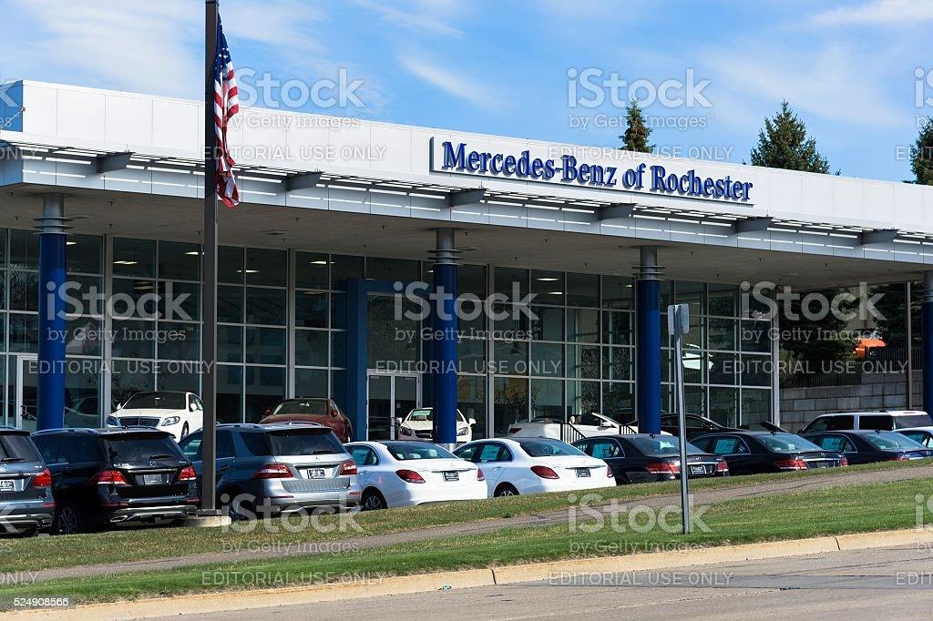 Mercedes-Benz Dealership stock photo