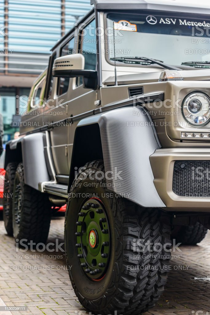 Mercedes-Benz G 63 AMG 6x6 six-wheel-drive luxury off road vehicle stock photo