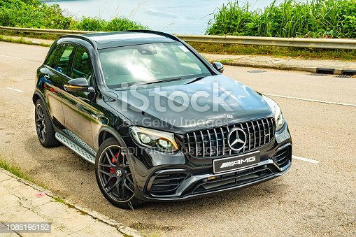 Hong Kong, China July 5, 2018 : Mercedes-Benz GLC 2018 Test Drive Day July 5 2018 in Hong Kong.