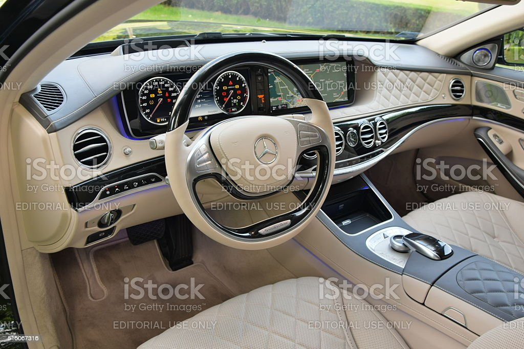 Attractive Mercedes Benz Maybach S600 Interior Royalty Free Stock Photo
