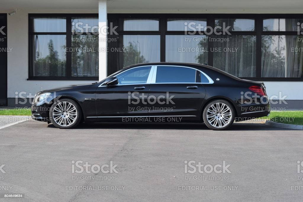 Mercedes-Benz Maybach S600 on the street stock photo