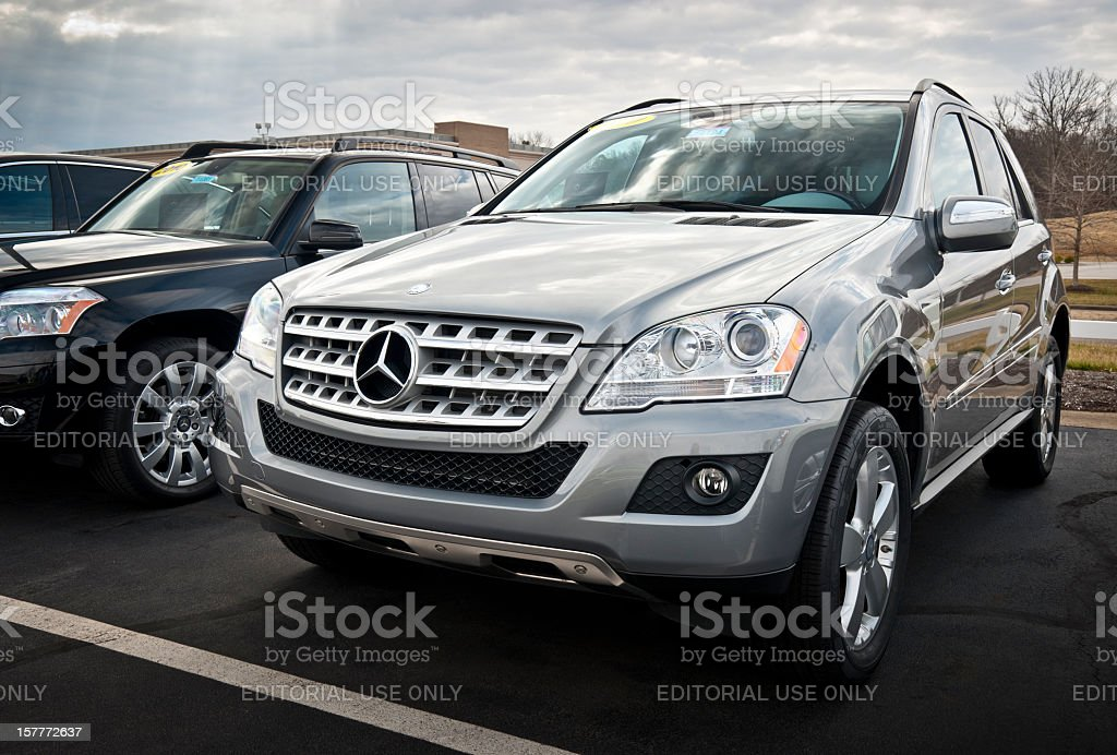 Mercedes-Benz M-Class SUV stock photo