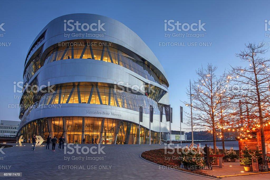 Mercedes-Benz Museum, Stuttgart, Germany stock photo