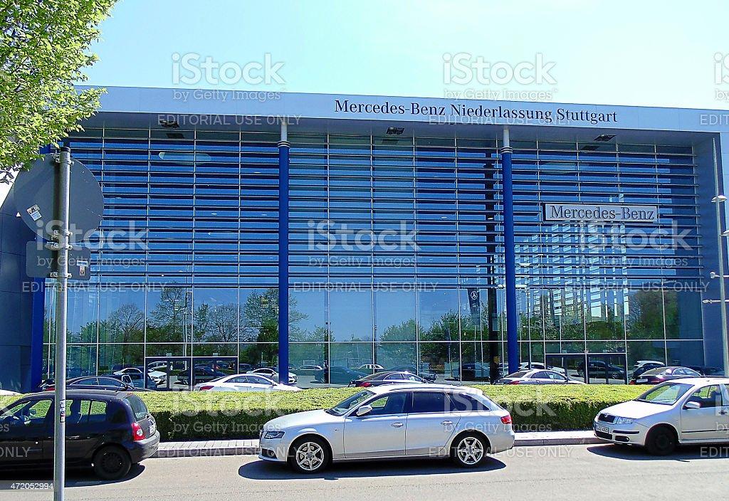 Mercedes-Benz Niederlassung, Stuttgart stock photo