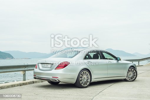 Hong Kong, China Feb 1, 2018 : Mercedes-Benz S 500 2018 Test Drive Day Feb 1 2018 in Hong Kong.