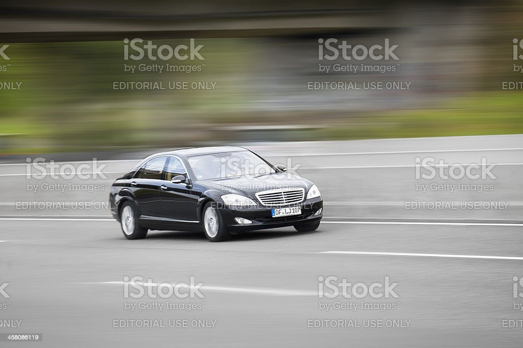 Mercedes-Benz S-Class, high speed royalty-free stock photo