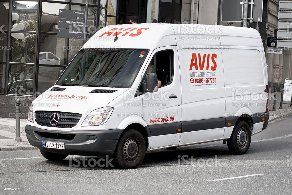 c1a730a50ebc4a Mercedes-Benz Sprinter of german car rental company AVIS royalty-free stock  photo
