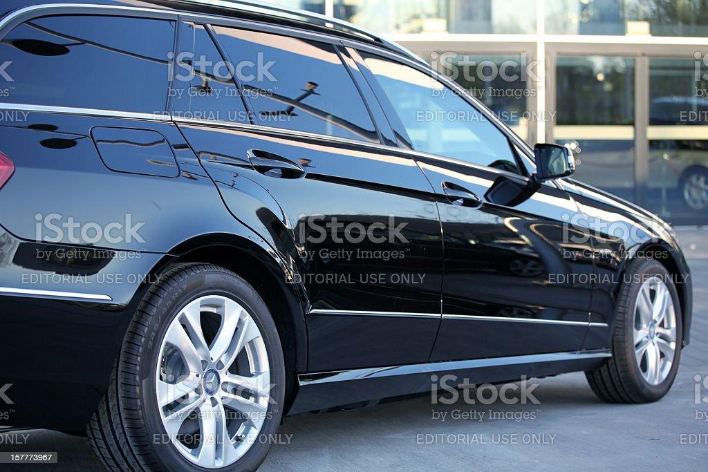 Mercedes-Benz T-model limousine side view stock photo
