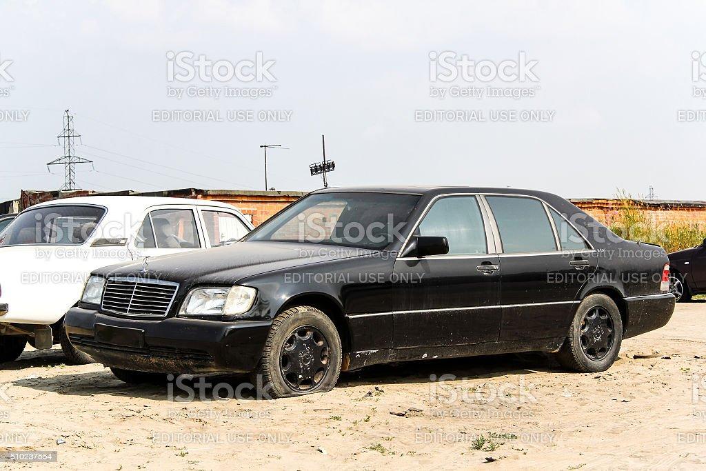Mercedes-Benz W140 S-class stock photo