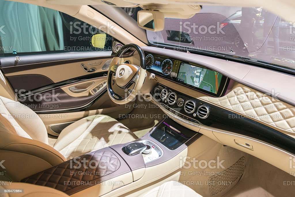 mercedesmaybach s500 4matic interior stock photo more pictures of 2016 istock. Black Bedroom Furniture Sets. Home Design Ideas