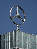 Mercedez-Benz Sign with blue Sky