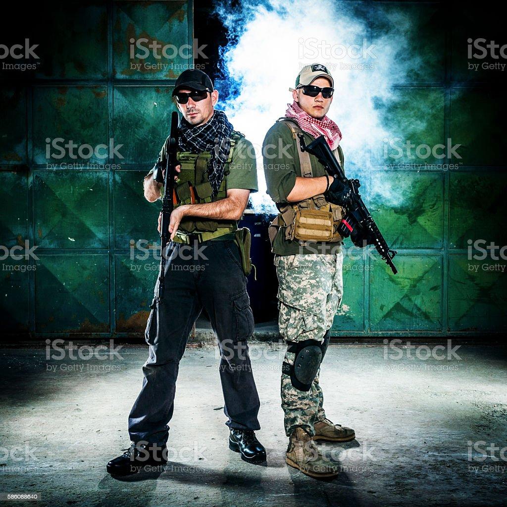 Mercenaries stock photo