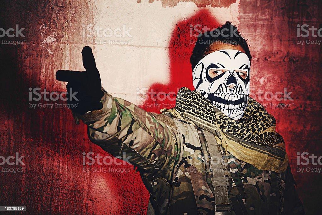 Mercenary stock photo