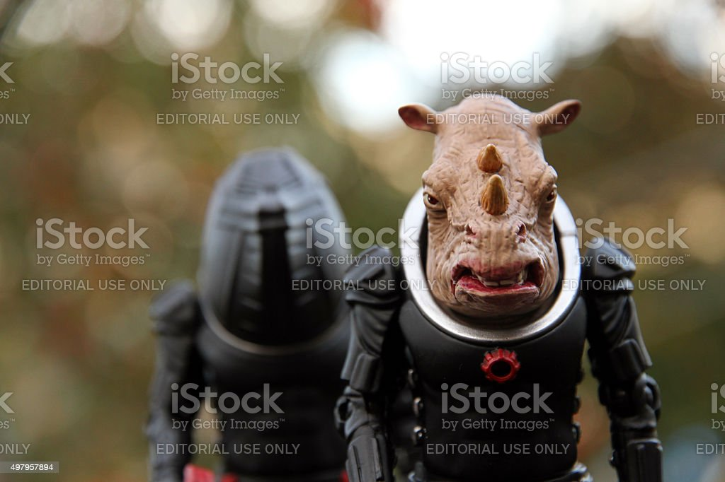 Mercenary Police Force stock photo