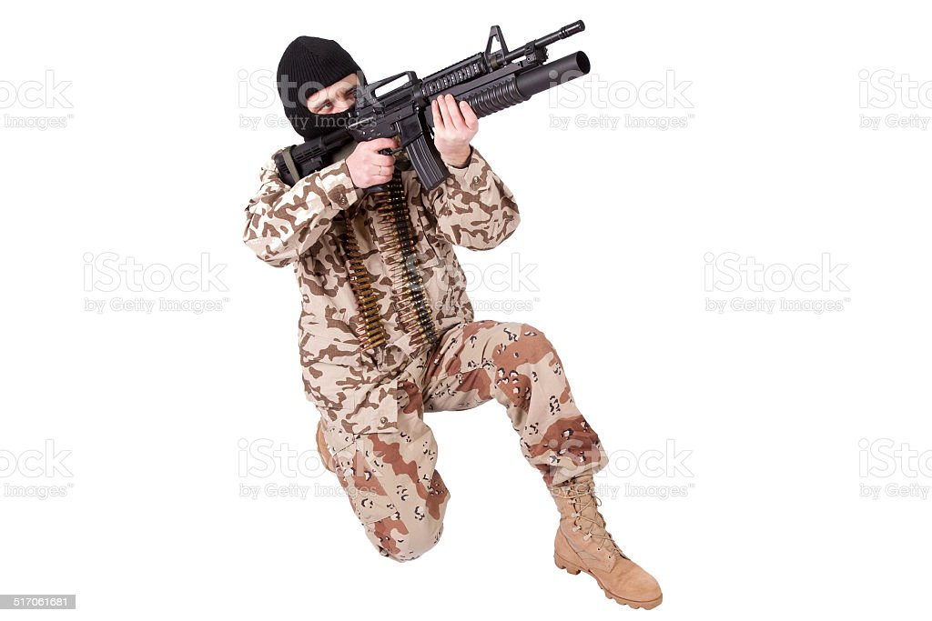 mercenary - soldier of fortune stock photo