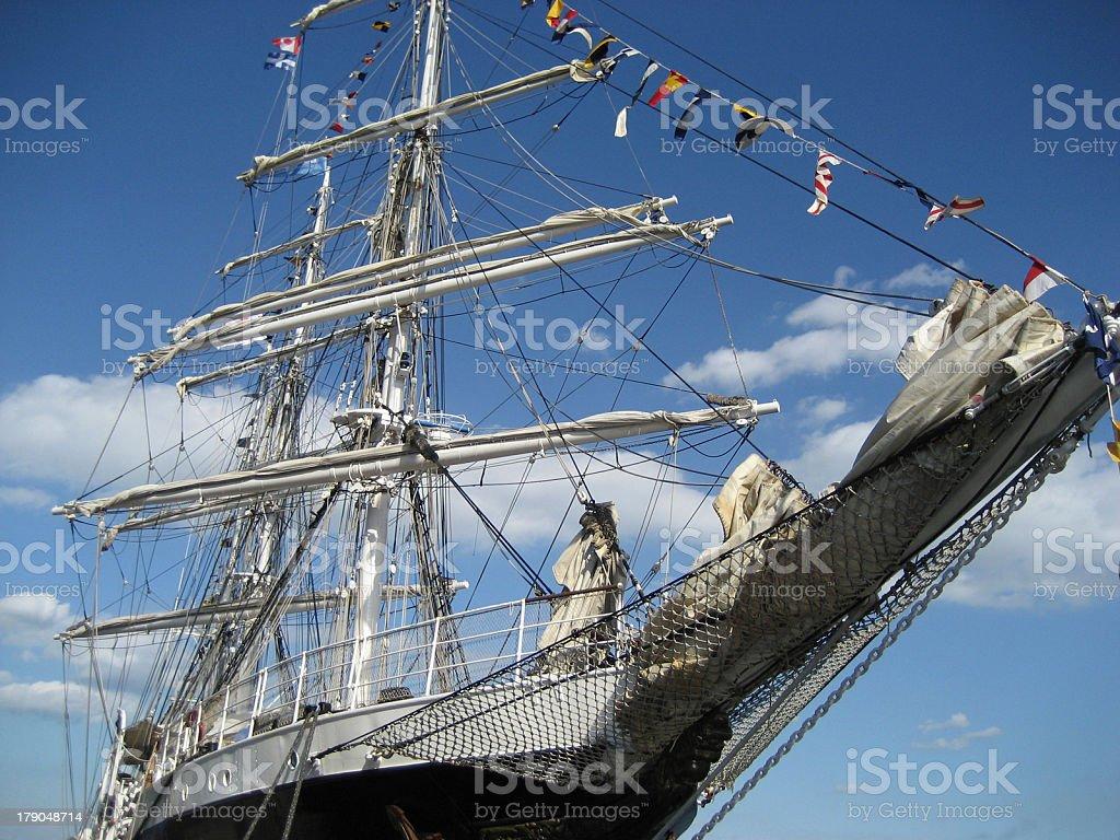 Merchant ship stock photo