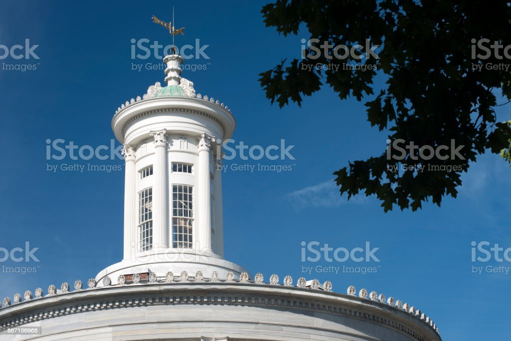Merchants Exchange Building in Independence National Historic Park stock photo