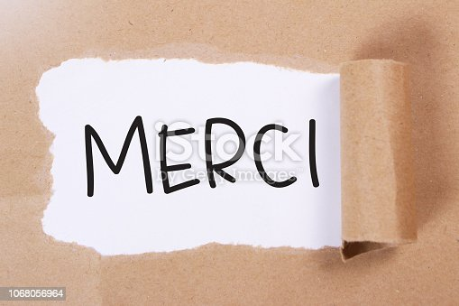 istock Merci, Motivational Words Quotes Concept 1068056964