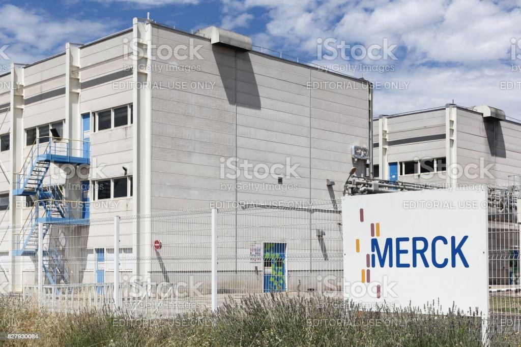 Merck plant in Meyzieu, France stock photo