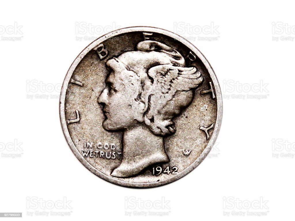 U.S. Mercury Dime stock photo