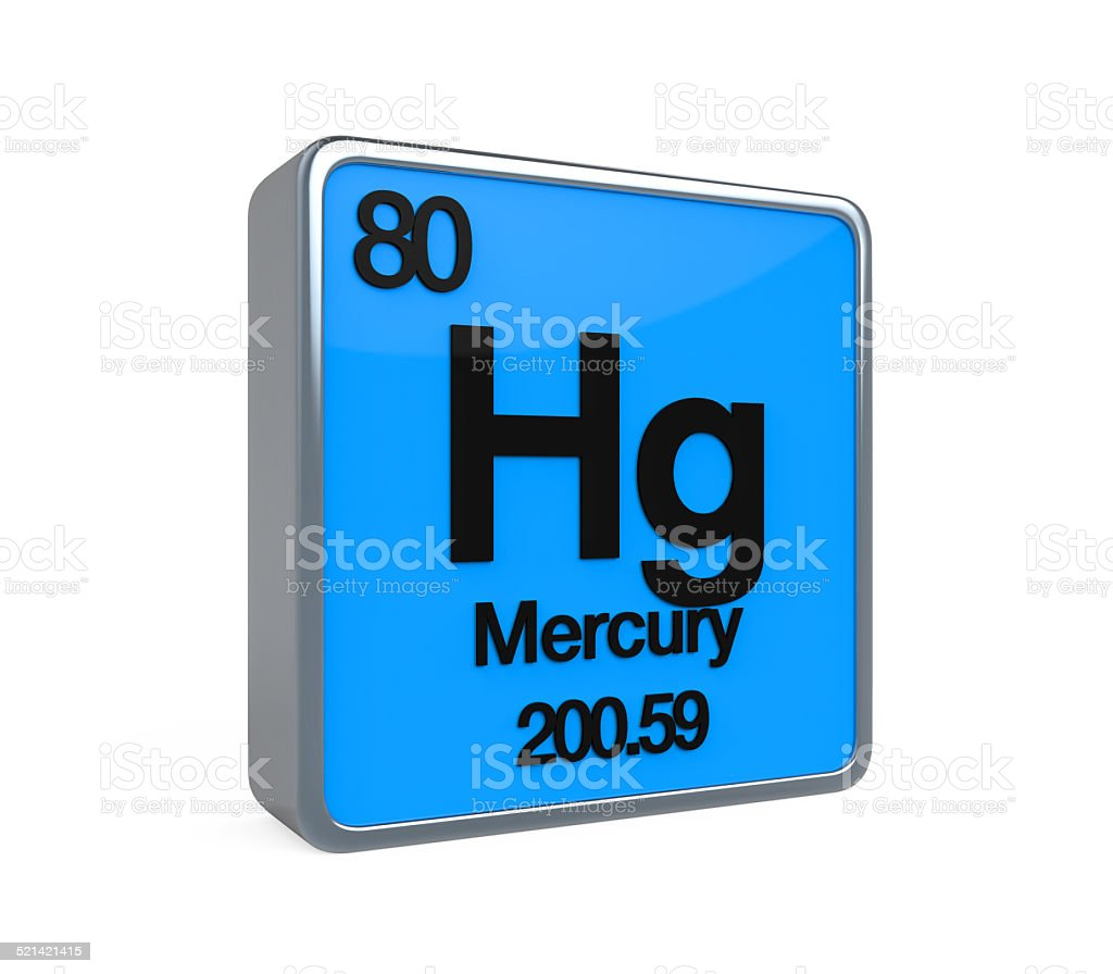 Mercury Element Periodic Table stock photo