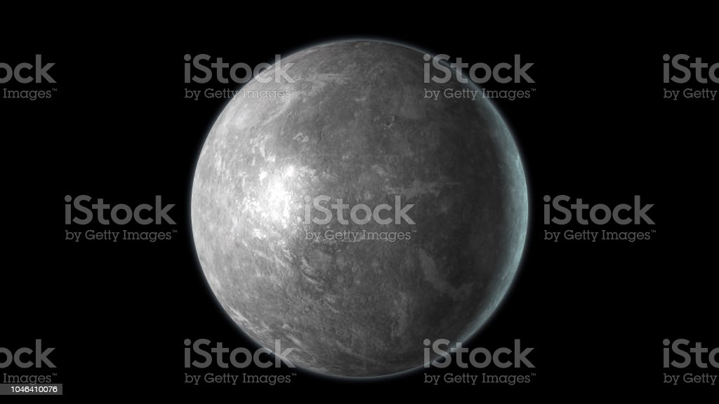Mercury planet isolated on stock photo