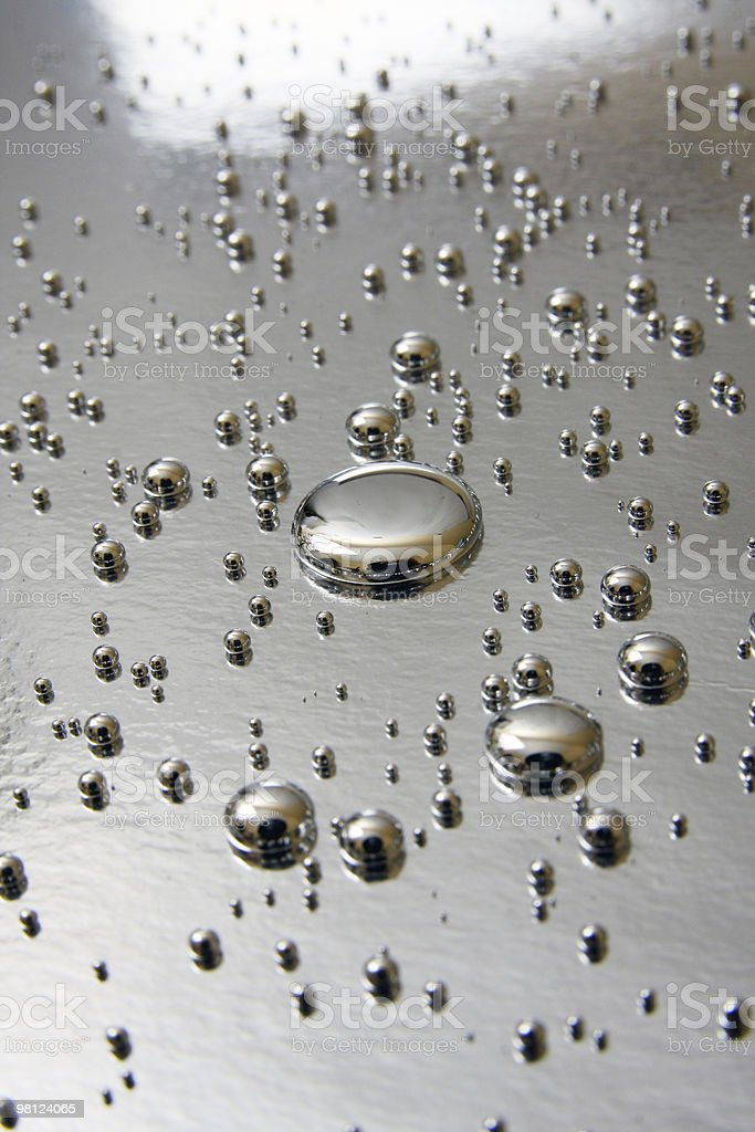 mercury quicksilver droplets royalty-free stock photo