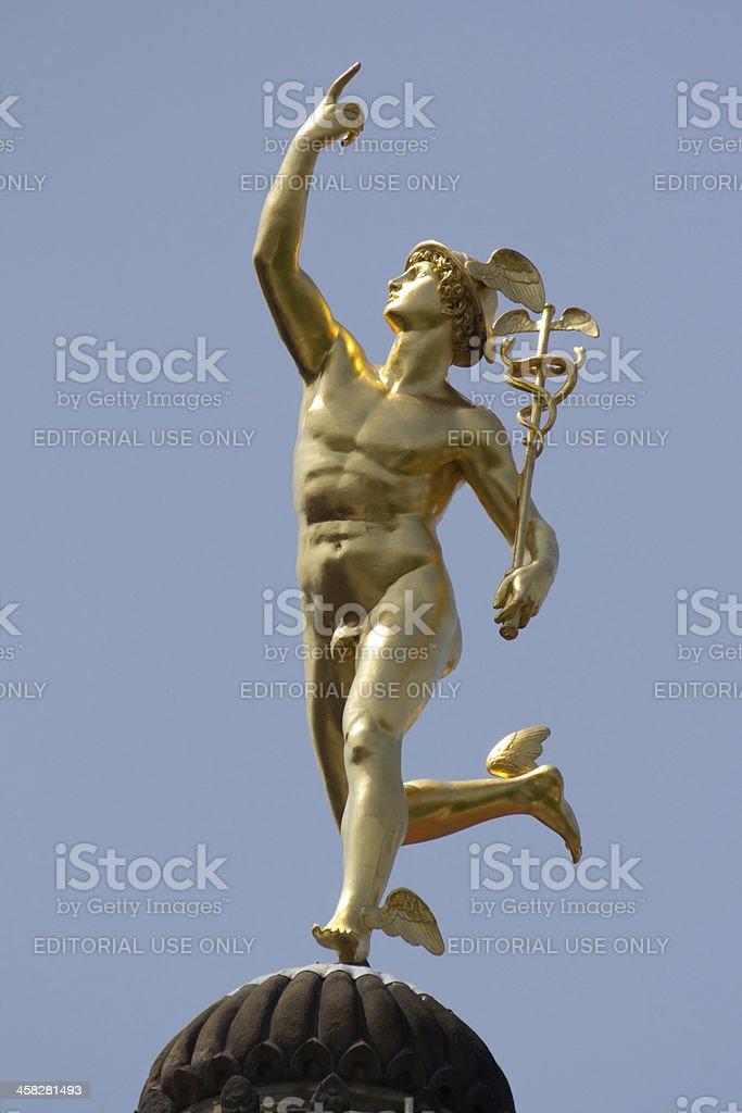 Mercury Statue stock photo