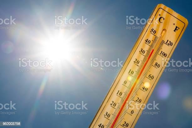 Photo of Mercury thermometer Summer heat Sun light