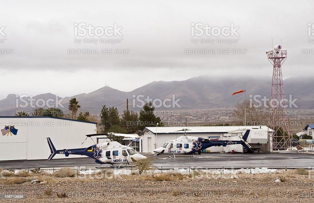 Las Vegas, Nevada, USA - February 26, 2011: Two Mercy Air rescue...