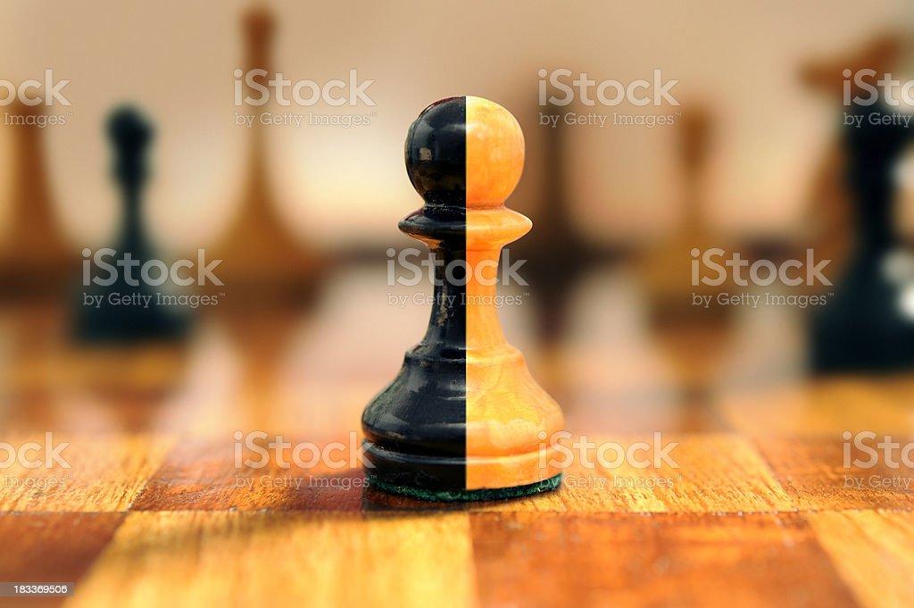 merged chess pawns royalty-free stock photo