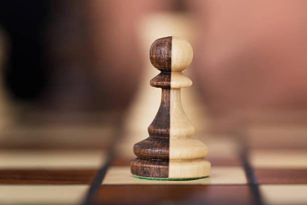 Merged Chess Pawns stock photo